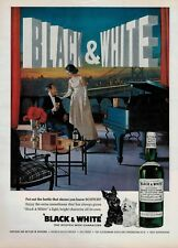 1963  Black & White scotch whisky buchanan's  Scotland  Magazine PRINT AD *