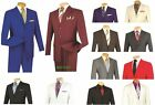Men's Suit Single Breasted 3 Buttons 2 Piece Classic Fit Solid Colors LUCCI 3PP