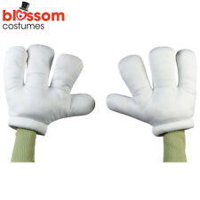 AC133 Child Jumbo White Cartoon Hands Gloves Mickey Minnie Mouse Cat in the Hat