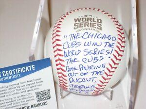 PAT HUGHES Signed Official 2016 WORLD SERIES Baseball w/ Beckett COA FINAL CALL