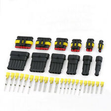1 Set Auto Waterproof Electrical Wire Connectors 1-6 Pin Male and Female Plug