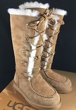 Ugg Appalachin Tall Chestnut Suede Sheepskin Boots US 5 Womens 1007701 NEW!