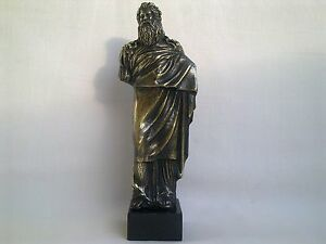 """Sculpture Dionysus/Bacchus god of wine Greek Mythology statue figure brass 7"""""""