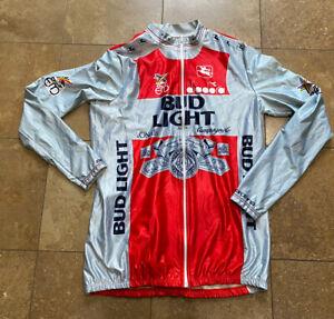 Vintage Bud Light Beer Giordana Cycling Bike Long Sleeve Cycle Jersey Adult Sz 6