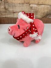 Gemmy Singing Oinking Plush Pig Christmas Sings Shepard Boy Walks