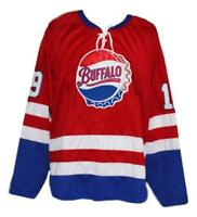 Any Name Number Size Buffalo Bisons Retro Custom Hockey Jersey Red Hodgson