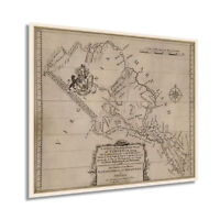 1747 Northern Neck of Virgina Map Print - Vintage Virginia Wall Art Poster Decor