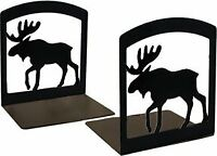 Village Wrought Iron Moose - Book Ends