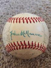 1982 Cincinnati Reds Team Seaver Bench Signed AUTOGRAPH Baseball Beckett BAS