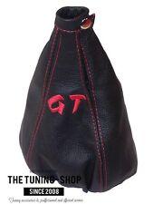 Per ALFA ROMEO GT 03-10 LEVA DEL CAMBIO GHETTA IN PELLE RICAMO GT Rosso Stitch