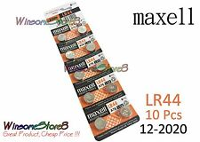10pcs Maxell LR44 A76 AG13 D76A 1.5V cell coin button battery