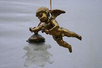Gorgeous putti angel cherub pendant chandelier tulip glass shade 50's france