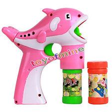 1x Dolphin Gun Soap Bubbles Machine For Kids Plastic Blowing Bubbles Toy