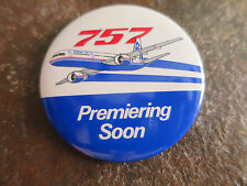 BOEING 757 mid-size, narrow-body twin-engine jet airliner Pin button