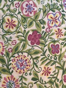 Pottery Barn Garden Floral Duvet Cover Twin 100% Organic Cotton Mod Floral