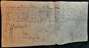 KING OF FRANCE LOUIS XIII AUTOGRAPH, Son of Marie de Medici and Henri IV – 1615