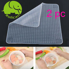 Rolican Silicone Stretch Lids Reusable Food Wrap Seal Covers keep food fresh 2pc