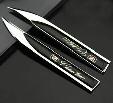 2pcs Auto car Dagger Fender Emblems Sticker Badge Decal fit for Black sports New(Fits: Cadillac Catera)
