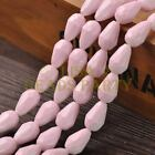 New Arrival 10pcs 16X10mm Faceted Teardrop Loose Spacer Glass Beads Light Pink