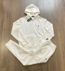 Polo Ralph Lauren Double Knit Tracksuit Hoodie Jogger White New W/Tags Men's XXL