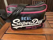 Vintage Superdry Messenger Bag Holdall Shoulder Flight Sport Retro Rare Japan