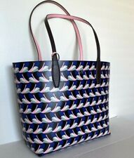 New Kate Spade New York Arch Love birds Large Reversible Tote with Pouch multi
