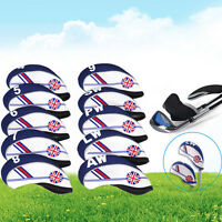 10x Neoprene UK Flag Golf Club Headcover-Head Cover Iron Protect Set