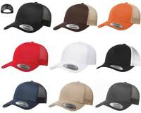 Yupoong Six-Panel Classic Trucker Hat Snapback Structured Curved Bill Cap 6606