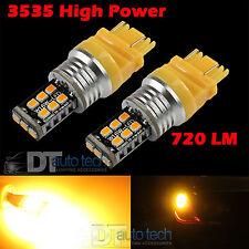 2X 600 Lumens 3157 60W High Power Amber LED Turn Signal Blinker Light Bulbs