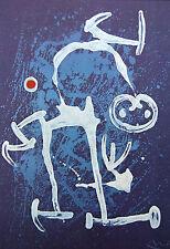 """Joan Miró Vintage montado de impresión, litografía offset, 14 X 11"""", 1972, Miro 2M126"""
