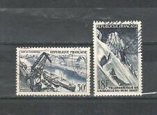 R2406 - FRANCIA 1956 - LOTTO REALIZZAZIONI TECNICHE N°1079/80 - VEDI FOTO