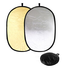 60x90cm Gold/Silver Oval Reflector Panel 2-in-1 Photo Video Studio Lighting Disc