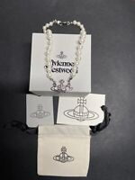 Vivienne Westwood Silver Pearl Orb Choker Necklace