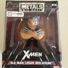 """Jada Metals OLD MAN LOGAN WOLVERINE 4"""" Die-Cast Metalfigs Marvel Lootcrate X-Men"""