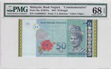 AA 0009922 RM50 Goldline Zeti PMG 68 EPQ Malaysia