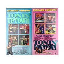 New 2 Richard Simmons Tonin Uptown Downtown VHS Tapes Fitness Workout