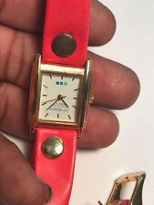 Nice Ladies Red Band Double Wrap La Mer Analog Watch