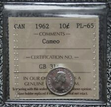 1962 CANADA - 10 CENTS SILVER PROOF LIKE - CAMEO - ICCS Graded PL-65 - Nice