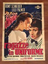 manifesto,2F 1958,RAGAZZE IN UNIFORME Mädchen Uniform,Romy Schneider,Lili Palmer