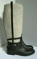 NEXT WOMEN'S BROWN BEIGE PULL ON PONY RIDING WELLINGTON WINTER BOOTS UK 6 39 NEW