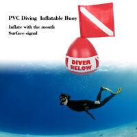 Boya Inflable Buzo Abajo Bandera Flotar Marcador Submarinismo Buceo Accesorios