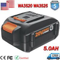 5.0Ah for Worx 20V WA3525 WA3520 WA3512 Battery WG160 WG163 WG151 WX550L WG154