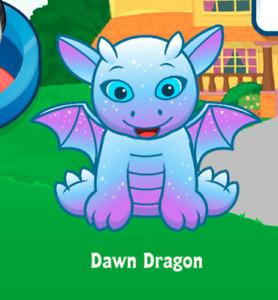 Webkinz Dawn Dragon Virtual Adoption Code Only Messaged Webkinz Light Fury H2TYD