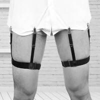FJ- NE_ 2x Shirt SLEEVE HOLDER arm bands garter elasticated metal band mens slee