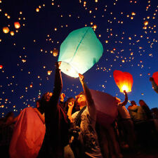 5Pcs Chinese KongMing Wishing Paper Light Lanterns Lamp Fuel Fire Fly Sky Party