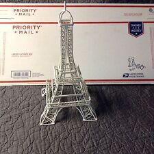"EIFFEL TOWER DECOR-COATED METAL TABLE TOP PIECE 15.25"" TALL EUC"