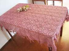 Chic Pretty Hand Crochet Design Braid Cotton Throw Table Cloth A