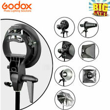 Godox S-Type Bowens Mount Holder Bracket For Speedlite Flash Snoot Softbox Flash