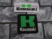 2x Aufnäher Patch Motorradsport Kawasaki Biker-MC Motorrad Racing Tuning FX Race