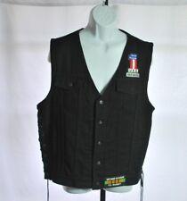 """Harley Davidson Black """"Vietnam Vet"""" Side Lace up Vest Men's One Size"""